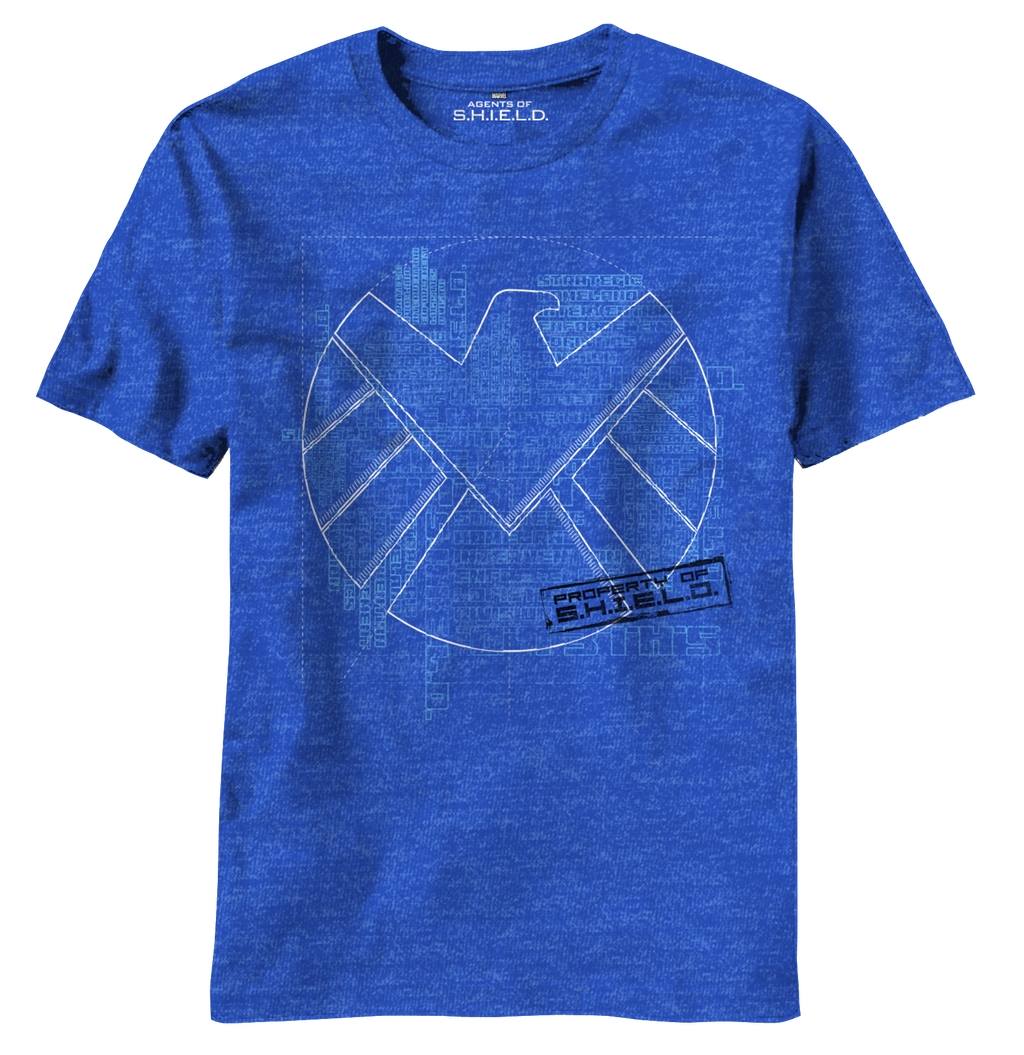 S.H.I.E.L.D:  Blueprints T-Shirt - First Person Clothing