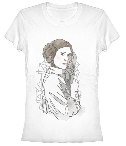 Star Wars:  Leia Outline Juniors T-Shirt
