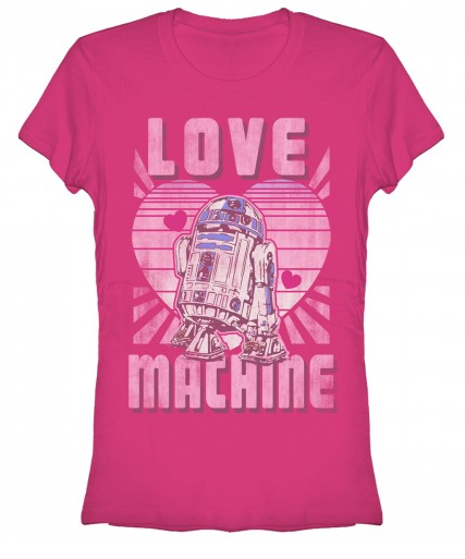 Star Wars:  R2D2 Love Machine Juniors T-Shirt - First Person Clothing