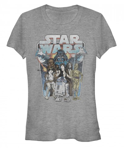 Star Wars:  Darth Vader Attacks Juniors T-Shirt - First Person Clothing