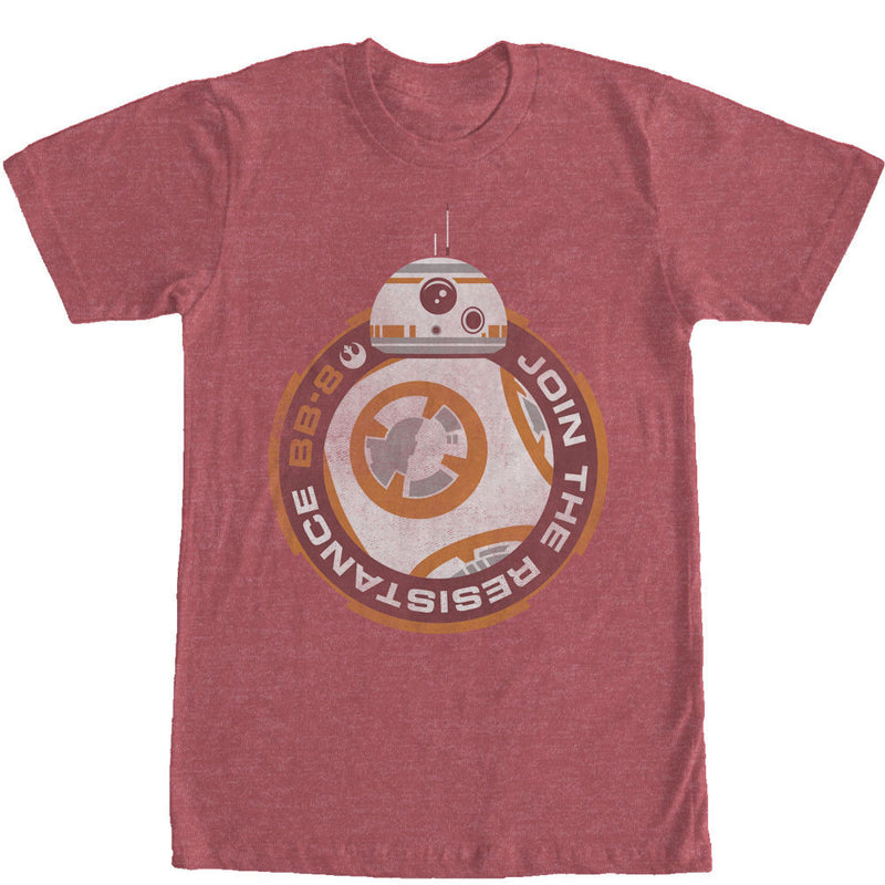 Star Wars The Force Awakens:  BB8 Join the Resistance T-Shirt - First Person Clothing