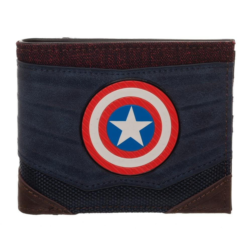 Marvel:  Captain America Chrome Weld Patch Bi-fold Wallet