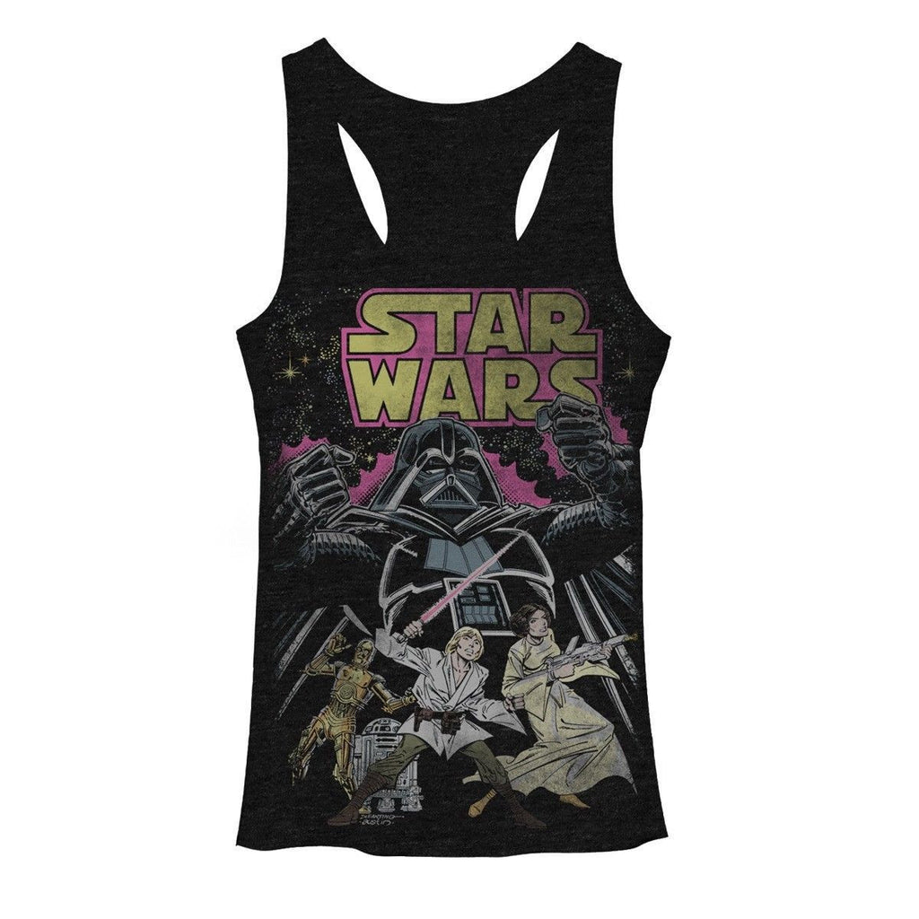 Star Wars:  Comic style themed juniors tank top - First Person Clothing