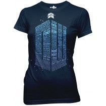 Doctor Who:  Words Logo Juniors T-Shirt - First Person Clothing