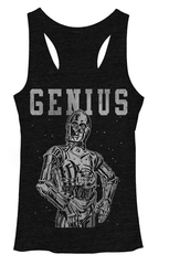 Star Wars:  C3PO Juniors Tank Top - First Person Clothing
