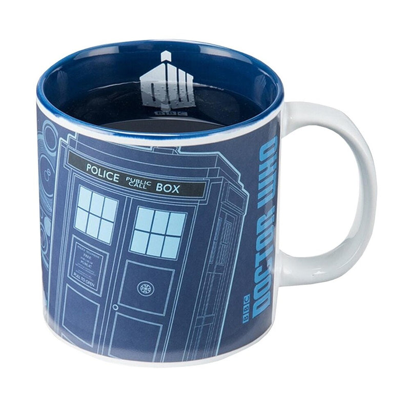 Vandor Doctor Who Tardis Heat Changing Mug - Heat Activated Morphing Coffee Cup