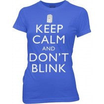 Doctor Who:  Keep Calm and Don't Blink Juniors T-Shirt - First Person Clothing