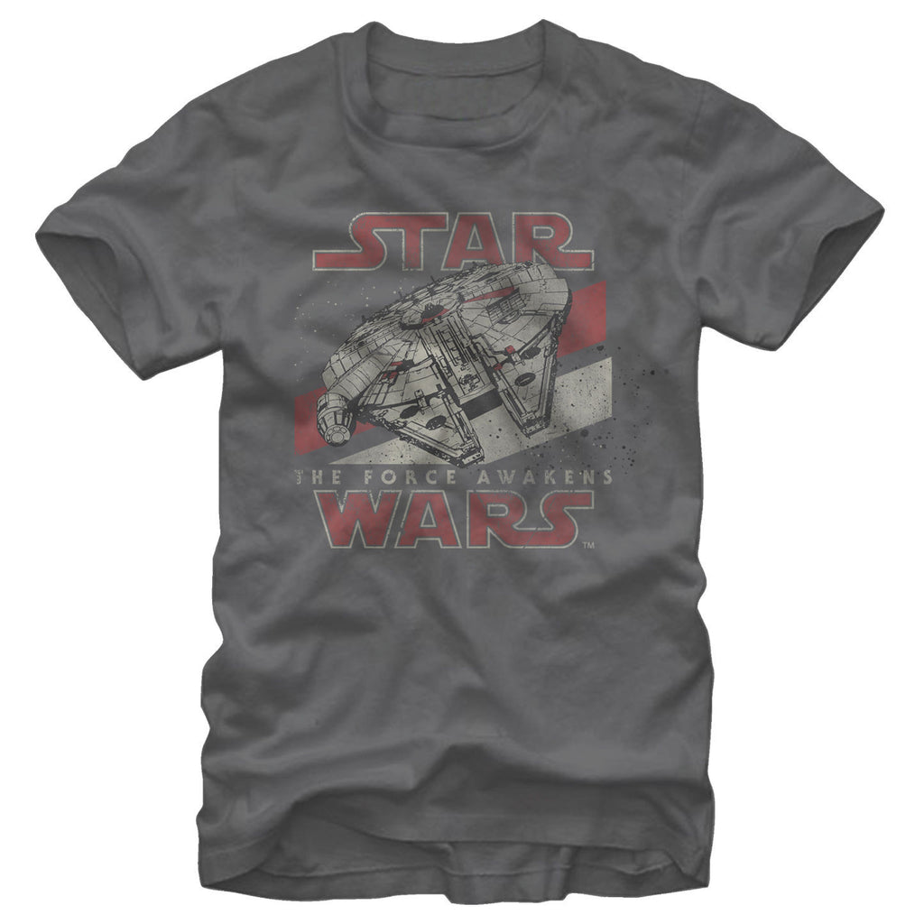Star Wars The Force Awakens:  Millennium Falcon T-Shirt - First Person Clothing