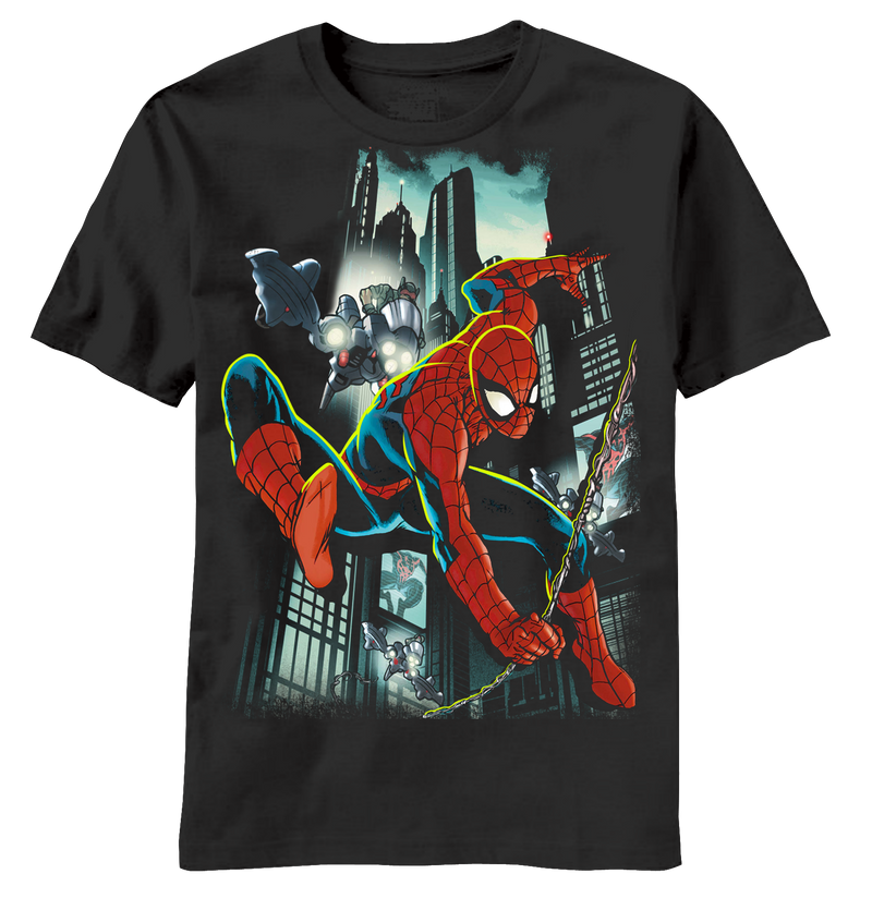 Spiderman:  Sled Lights Youth T-Shirt - First Person Clothing