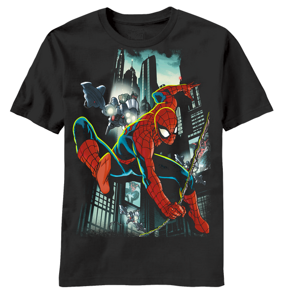 Spiderman:  Sled Lights Youth T-Shirt