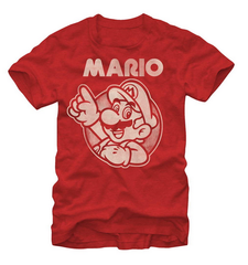 Nintendo:  So Mario T-Shirt - First Person Clothing