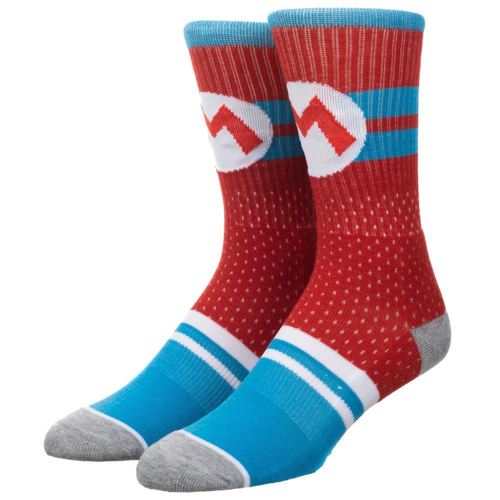 Nintendo Super Mario Mesh Athletic Crew Sock