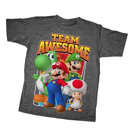 Nintendo:  Team Awesome T-Shirt Youth T-Shirt - First Person Clothing