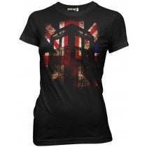 Doctor Who:  Union Jack Juniors T-Shirt - First Person Clothing