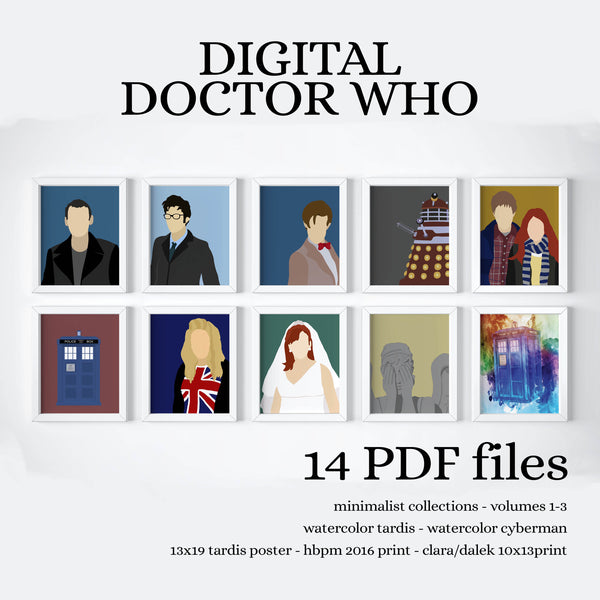 INSTANT DOCTOR WHO COLLECTION - PRINTABLE