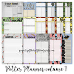 WIZARD PLANNER PAGES - A5 SIZE