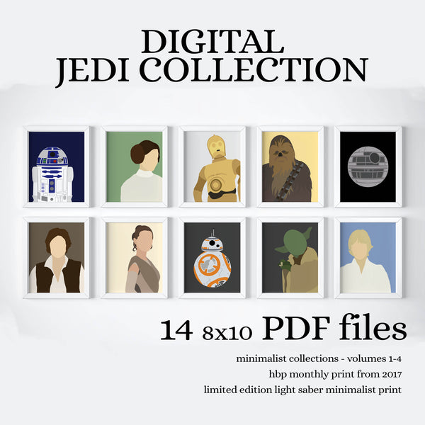 INSTANT JEDI COLLECTION - PRINTABLE