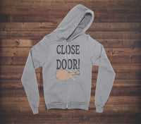 CLOSE THE DOOR - ABERFORTH - ZIP UP HOODIE