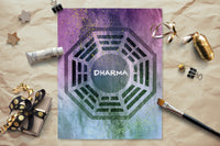 PRINTABLE - Lost Dharma Logo Watercolor - INSTANT DOWNLOAD - 8x10