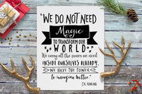 PRINTABLE JK ROWLING QUOTE - INSTANT DOWNLOAD - 8x10