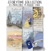 PLANNER TABS - STORYTIME COLLECTION - A5 SIZE
