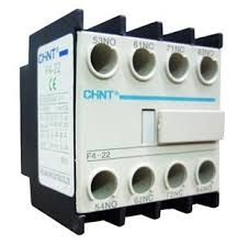 The Chint NC1-F422 10 amp auxiliary is a 2 normally open and 2 normally closed head mount auxiliary contact block. Compatible with all Chint contactors sits on top of contactor
