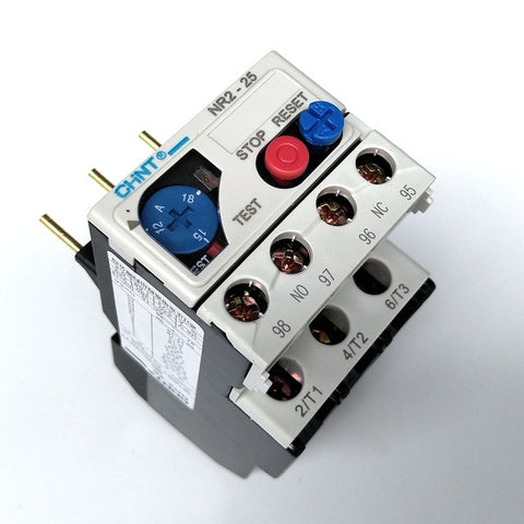 CHNT NR2-25/Z 2.5A-4A Refrigeration compressor thermal overload for relay or contactor