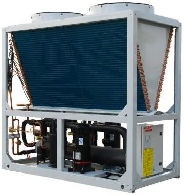 90kw modular water chiller with hot water