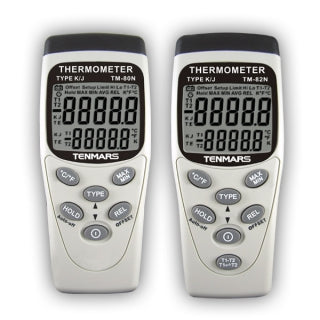 Highly accurate thermometer with 0.05% basic accuracy for precise measurement