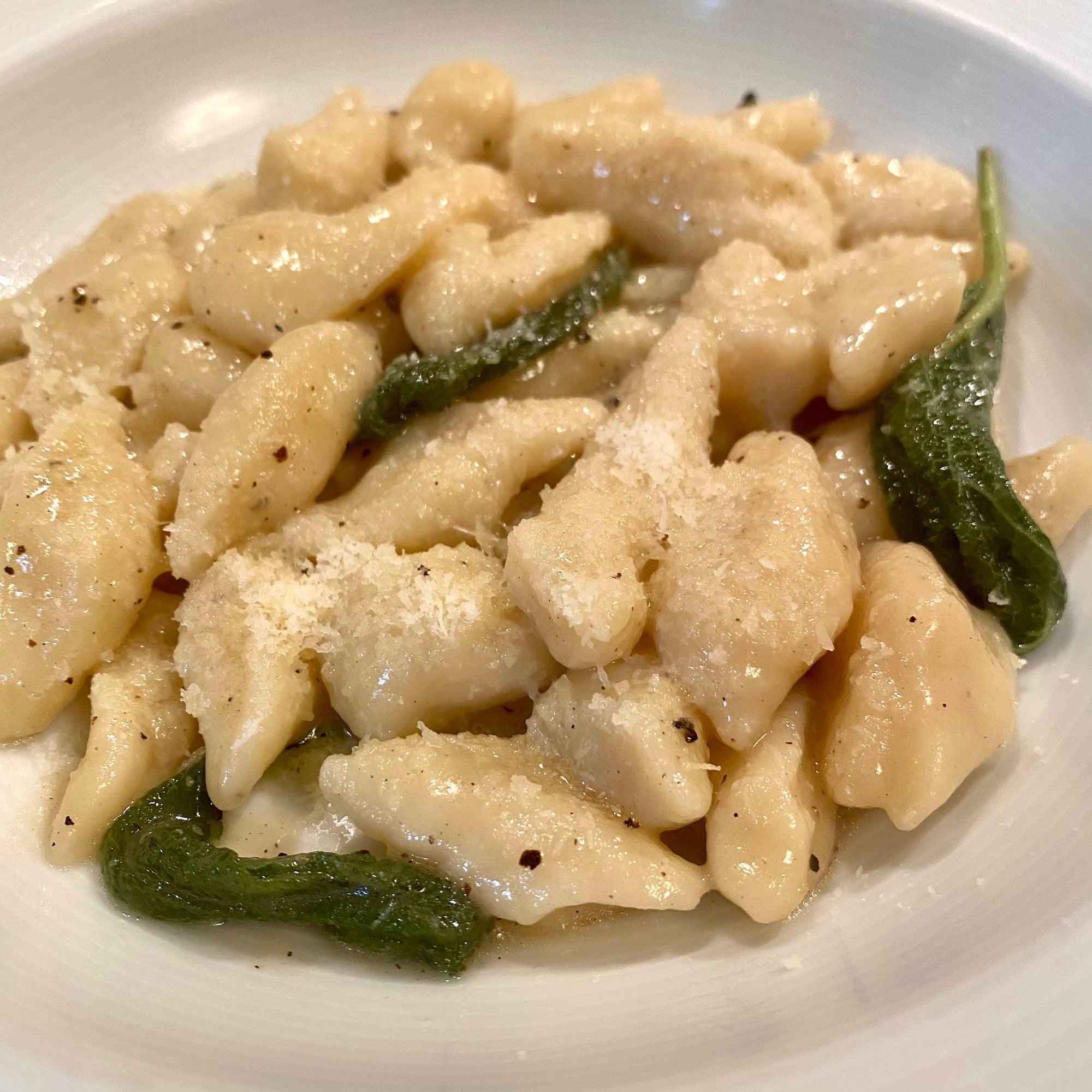 Potato gnocchi with sage and butter