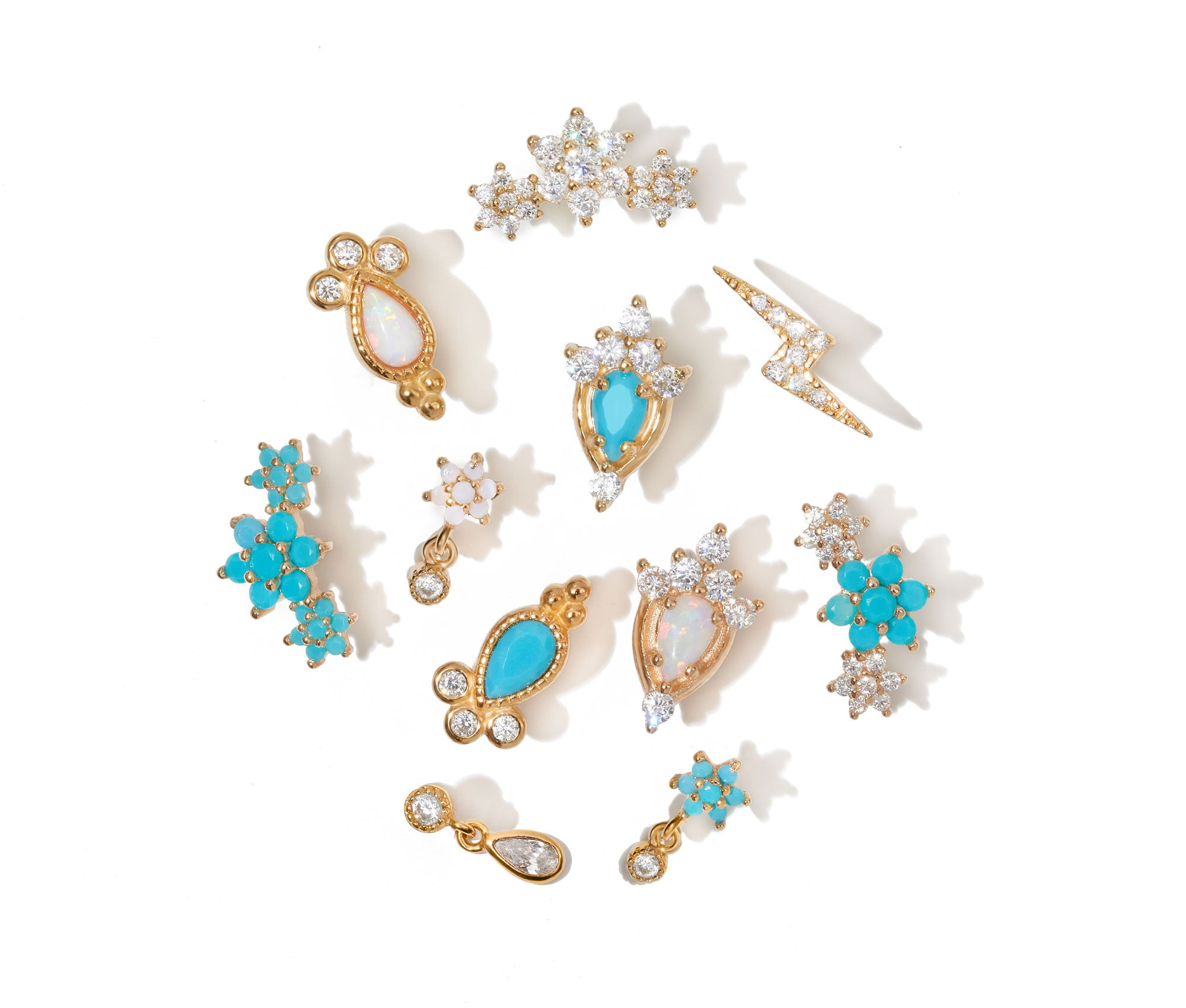 Roma Studs Set Of 4 **ALL TYPES /& SIZES**