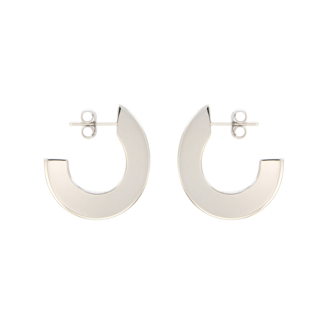 Nora sterling silver hoops