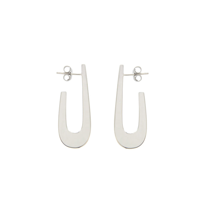 Eva sterling silver hoops