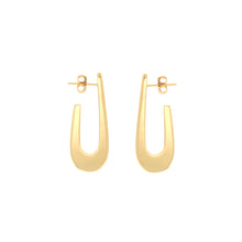 Load image into Gallery viewer, Eva gold vermeil hoops