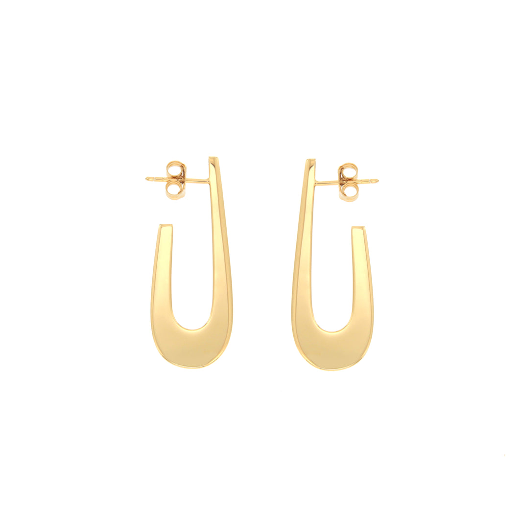 Eva gold vermeil hoops