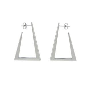 Zina sterling silver hoops