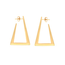Load image into Gallery viewer, Zina gold vermeil hoops
