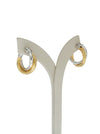 Allegra 2cm two tone hoops