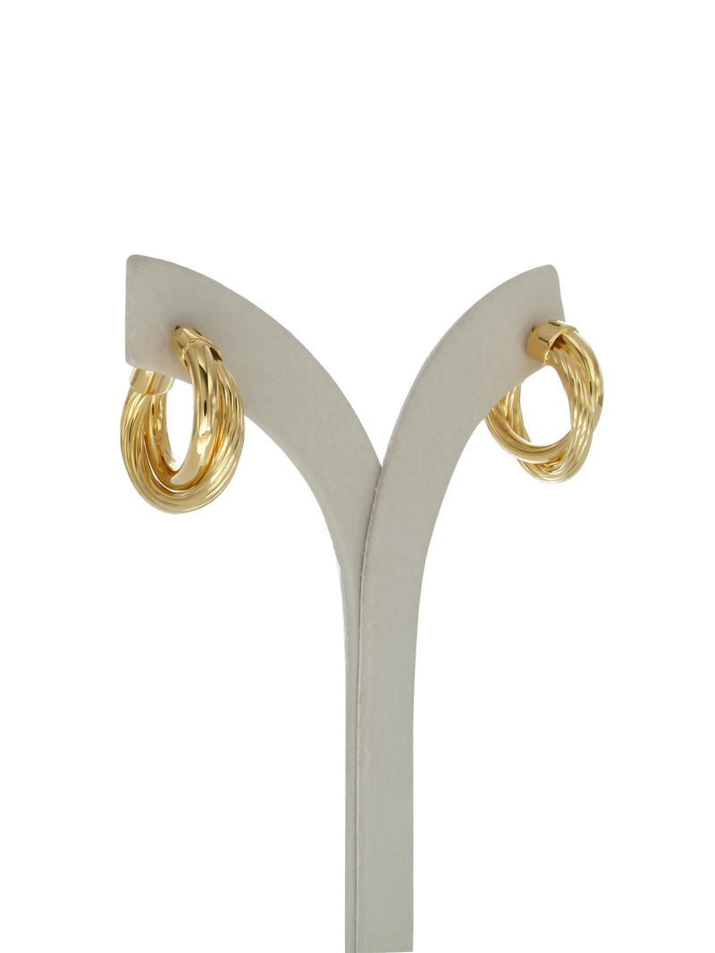 Allegra 2cm gold vermeil hoops