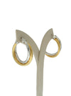 Allegra 3cm two tone hoops