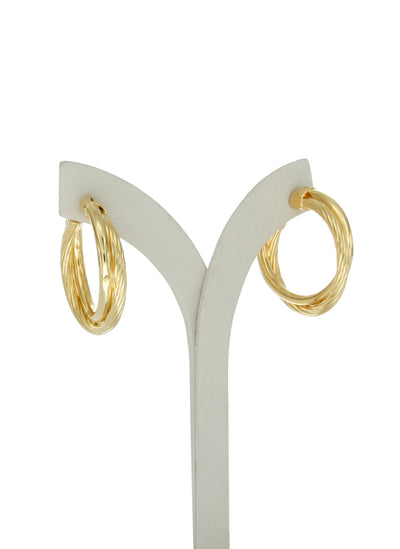 Allegra 3cm gold vermeil hoops