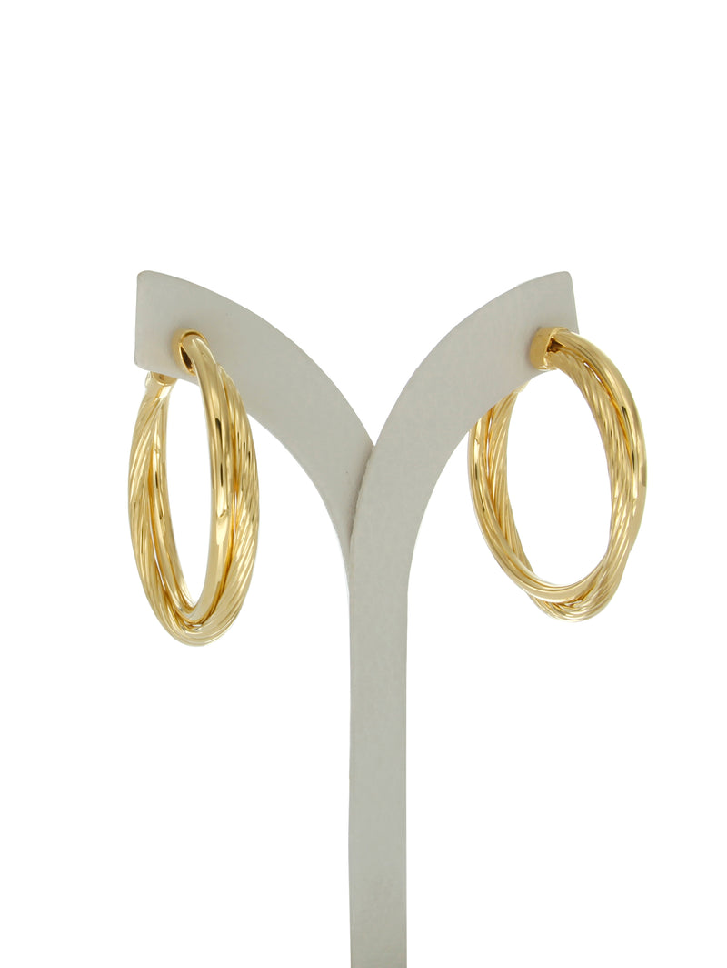 Allegra 4cm gold vermeil hoops