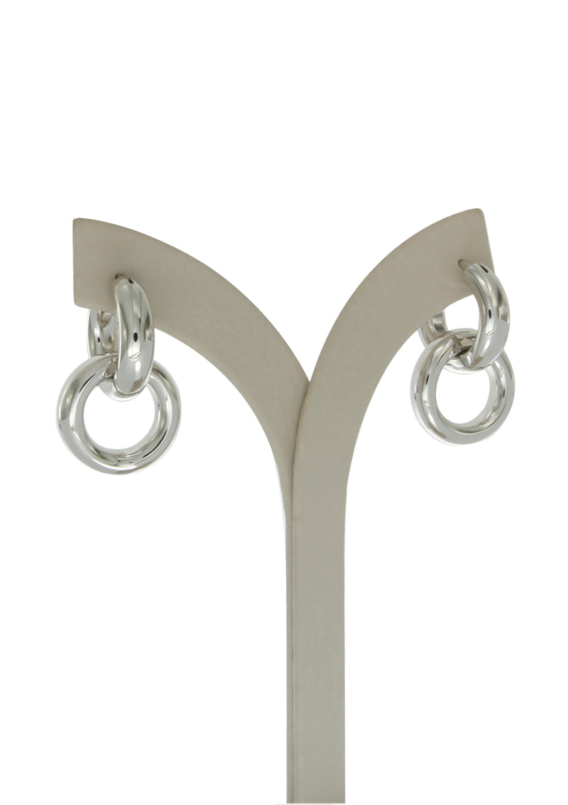 Alba sterling silver hoops