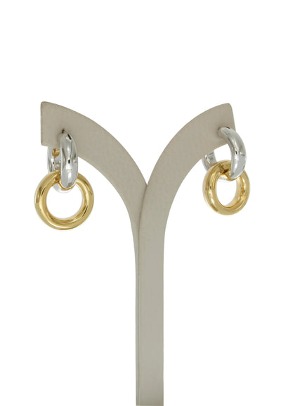 Alba two tone hoops