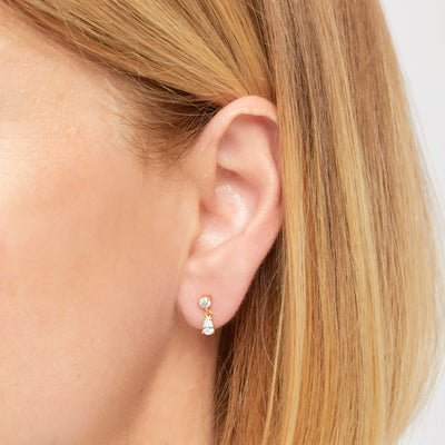 Phoebe gold vermeil stud (ball screw)