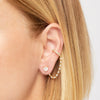 Serena gold vermeil chain ear cuff