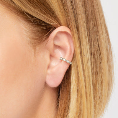 Tasha sterling silver ear cuff