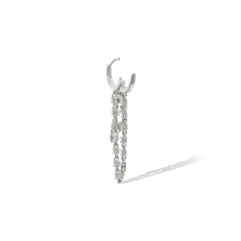 Amina sterling silver earring