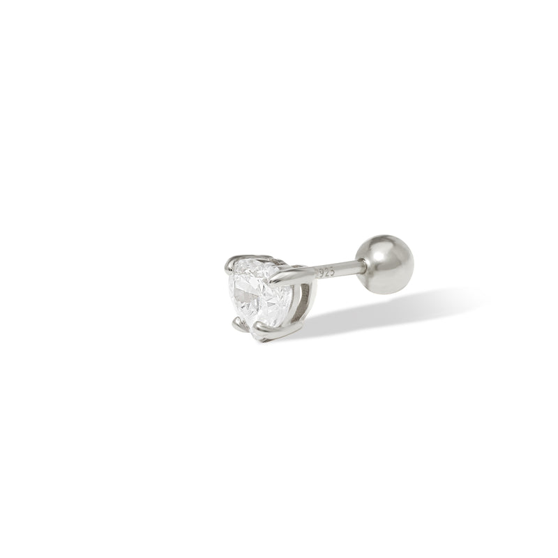 Fiona sterling silver stud (ball screw)
