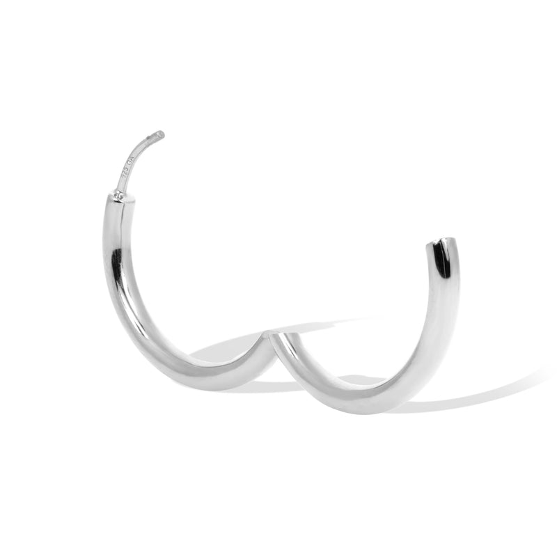 Simple 20 mm sterling silver mini hoop